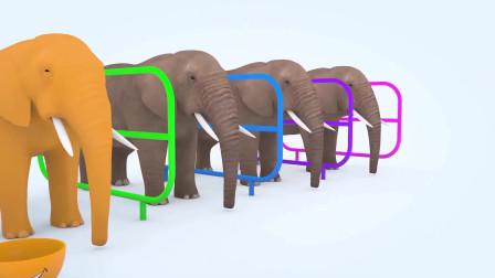 趣味益智动画片 大象吃彩色辣椒