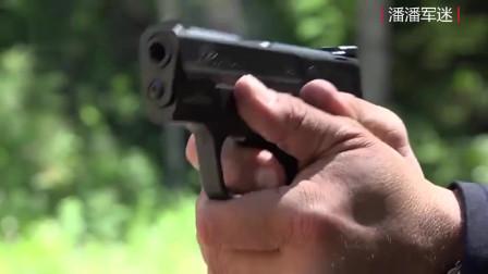 崭新的史密斯韦森半自动手枪,弹匣供弹 靶场射击测试