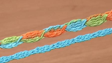 钩针在手花带不愁,一款简单漂亮的枣花带教程,可粗可细造型百变