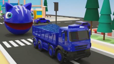 吃豆人变身猫小子,战斗力瞬间爆表秒杀大卡车!吃豆人游戏