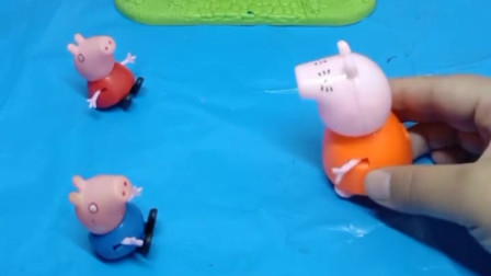 猪妈妈只带一个人去游乐场玩,让乔治和佩奇做冰激凌比赛决定谁去,小朋友们想让谁去啊?