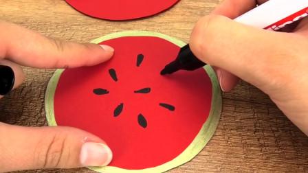 5分钟 简易DIY自制 夏天冷饮 芒果香橙冰沙 简单西瓜手工挂饰