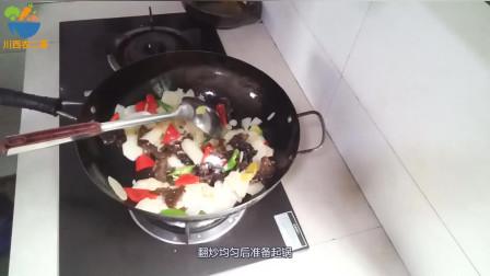 一道传统的家常菜:木耳炒山药,做法原来这么简单!