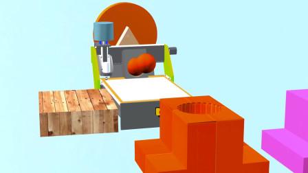 趣味益智动画片 制造彩色球的机器