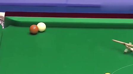 斯诺克台球:丁俊晖上演世界级斯诺克,打出无解斯诺克球,简直太精彩!