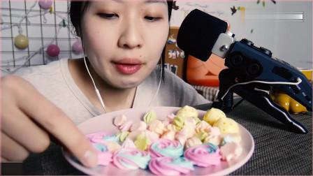 《韩国农村美食》吃播软软吃蛋白糖咀嚼音,耳机福利音来了!