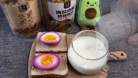 来吃红鸡蛋,一分钟早餐轻松做