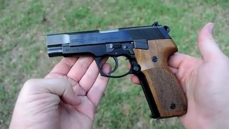 瓦尔特P88半自动手枪射击赏析,采用9mm口径弹药供弹