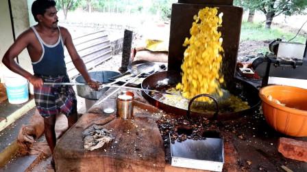 """印度""""正宗""""炸香蕉片,一锅就够几个人吃,网友:香蕉多就是任性"""