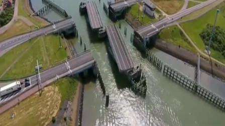 这个设计太牛了,车辆和轮船通行互不影响!厉害了我的中国制造!
