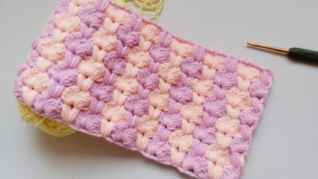 钩针编织一款非常厚实柔软的花样冬天越近她越美花样大全图