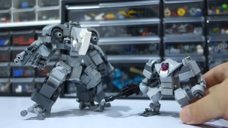 乐高MOC创意积木 拼装RF802犀牛机甲玩具