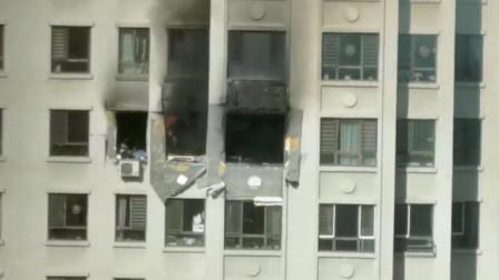14楼居民家爆炸 男子坠落地面不幸身亡