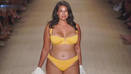 美女模特泳装走秀,身材才是最大的资本
