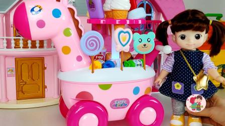 小宝宝开小车吃糖豆,宝宝玩游戏过家家,儿童玩具亲子互动