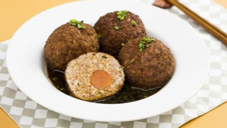 天冷就要吃肉,咸香入味的咸蛋黄狮子头非常有料!
