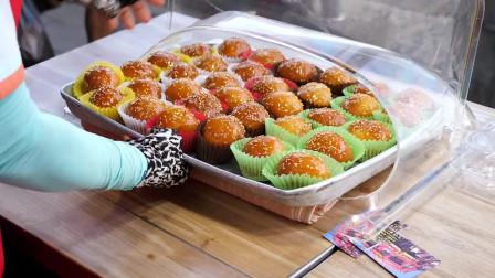 韩国街头小吃蜂蜜面包(栗色夜紫甘薯豌豆柚子味)