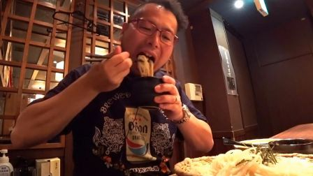 【啤酒怪】日本的夏天就是要吃荞麦面~配上山药泥金枪鱼刺身很凉爽~