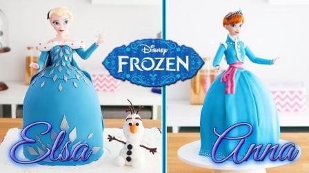真实还原《冰雪奇缘》最美的两姐妹,这蛋糕我不信有人会舍得吃!
