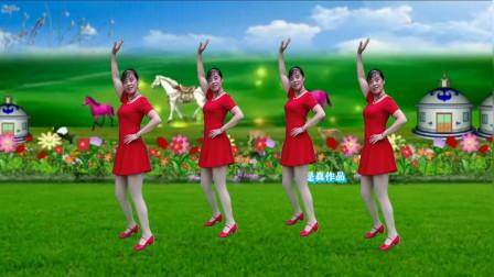优美广场舞《天边的情哥哥》优美动听的歌曲,舞步抒情大方