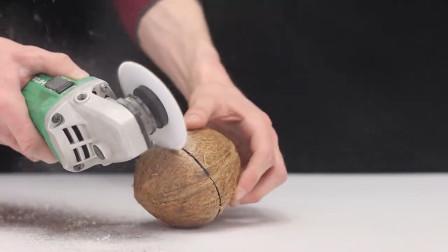用纸片能切开椰子吗?老外亲自实验后,得出这样的结论