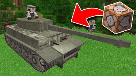魔哒我的世界国际服37:我在村庄附近发现了虎式坦克!