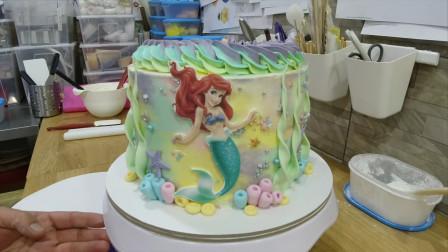 据说这样的蛋糕才是孩子的最爱?把美人鱼做成蛋糕,这创意100分