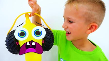 萌娃小可爱们和魔法气球一起玩捉迷藏!小家伙们可真会玩呢!—萌娃:我抓住你啦!