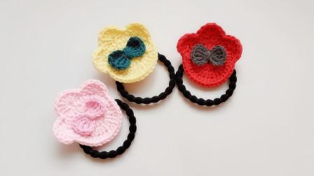 钩针编织可爱的熊掌小发饰一小时就能学会啦细线编织花样
