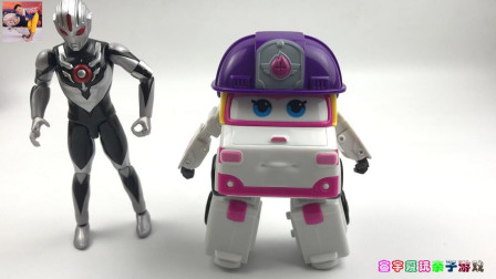 超级飞侠小柔玩具拆箱!暗黑欧布奥特曼玩变形机器人玩具