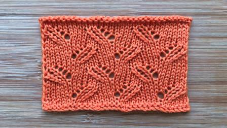 别样叶子花的编织方法,镂空精致,漂亮大方,织背心或上衣都不错毛线编织教程钩法