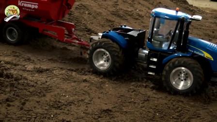 儿童仿真工程车挖掘机装载车玩具,仿真RC大卡车自卸车运输车