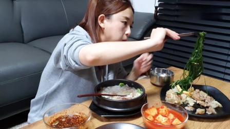 吃播:韩国美女吃货试吃韩式家常菜,每一餐的泡菜都是重头戏!
