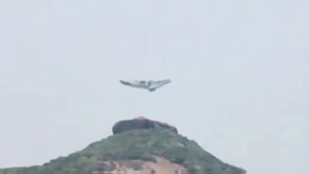 实拍UFO降落山顶,还下来一个外星人,这画面太珍贵了