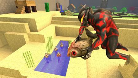 GMOD游戏贝利亚把食人鱼放到水池里奥特曼会怎样?