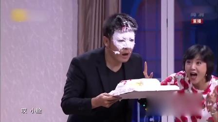 孙涛过生日真狠,直接按到蛋糕里,太搞笑了