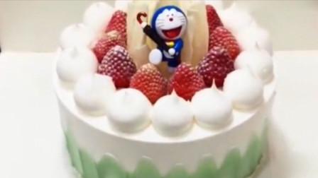 清新好吃的水果生日蛋糕,孩子必备的生日礼物,学会再也不用买了!