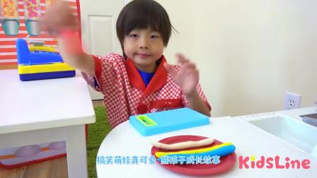 萌娃小可愛小小年紀就會自己做棒棒糖啦小可愛真不愧是小廚神啊萌娃棒棒糖好甜啊