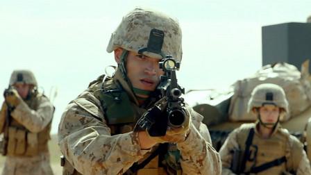 精彩的现代战争片,美军深入伊拉克战争,带军犬在战区排雷