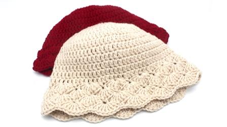绒尚手工-冬季菠萝花女士毛线帽子编织教程
