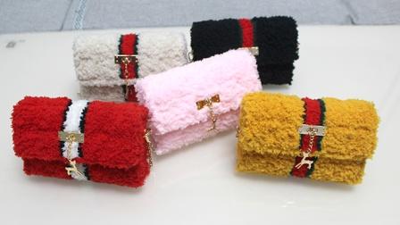 绒尚手工-网红珊瑚绒网格包包缝制教程
