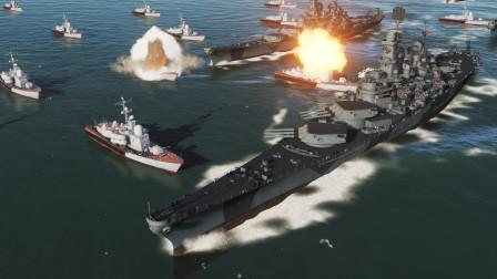 50艘导弹艇回到二战,正面强攻9艘依阿华级战列舰能赢吗,游戏推演