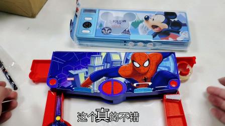 """35元豪华""""蜘蛛侠变形铅笔盒"""",自带剪刀和胶带,还能直接削铅笔"""