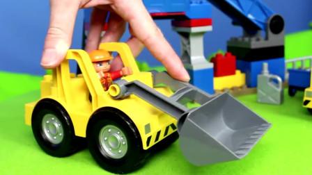 挖掘机视频表演大全14 挖土机玩具视频 挖土机 推土机动画片