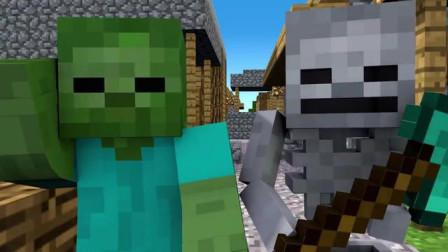 我的世界动画-骷髅 vs 丧尸-Minecraft Monster School