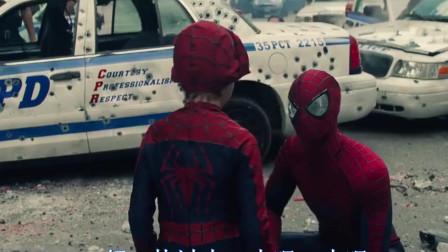 蜘蛛侠:蜘蛛侠不在,面对坏蛋,小男孩挺身而出