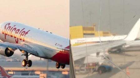印度一客机窗户破裂后用胶带粘住继续飞 乘客怒了