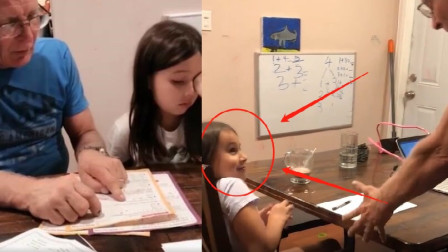 美国老爸被女儿作业逼到说中文,女儿都忍不住笑了!网友:真急了