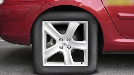 谁说轮胎只能是圆的?老外这方形轮胎,跑起来照样很欢快