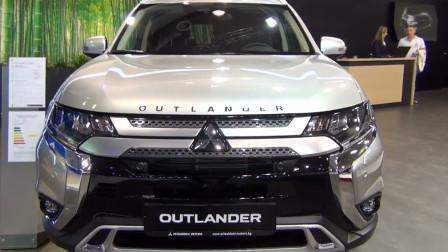 2020款三菱欧蓝德4WD到货,外观和内饰实拍